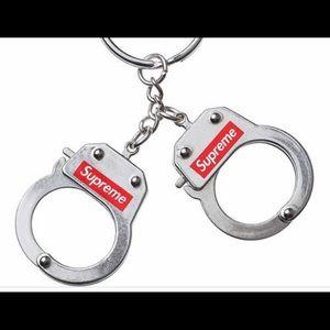 Supreme handcuff keychains